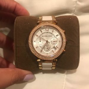 Michael Kors White and Gold Watch (working!)